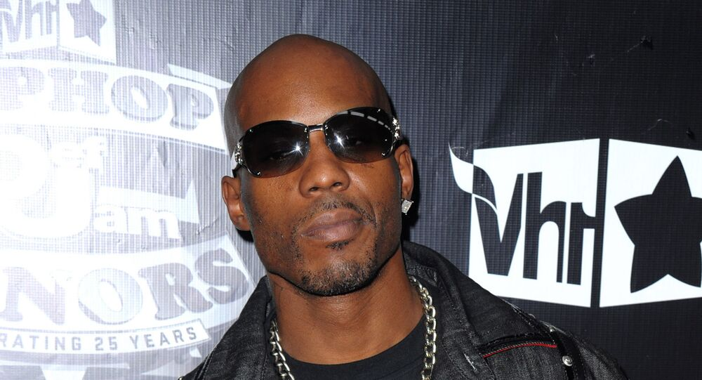 In this 23 September 2009 photo, DMX arrives at the 2009 VH1 Hip Hop Honours at the Brooklyn Academy of Music, in New York.