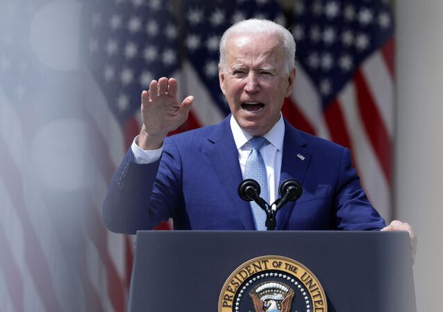 U.S. President Joe Biden speaks during an event on gun control in the Rose Garden at the White House April 8, 2021 in Washington, DC. Alex Wong/Getty Images/AFP (Photo by ALEX WONG / GETTY IMAGES NORTH AMERICA / Getty Images via AFP)