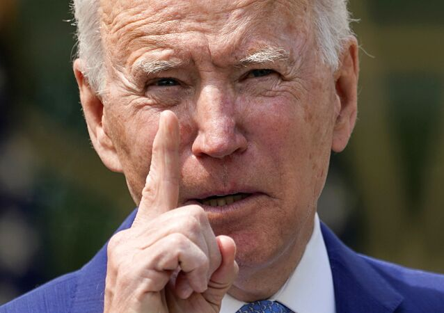 U.S. President Joe Biden speaks as he announces executive actions on gun violence prevention in the Rose Garden at the White House in Washington, U.S., April 8, 2021. REUTERS/Kevin Lamarque