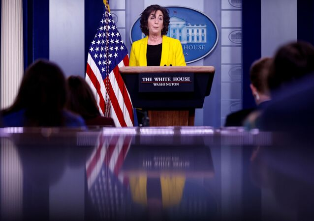 White House Coordinator for the Southern Border Ambassador Roberta Jacobson delivers remarks during a daily press briefing hosted by Press Secretary Jen Psaki at the White House in Washington, U.S., March 10, 2021
