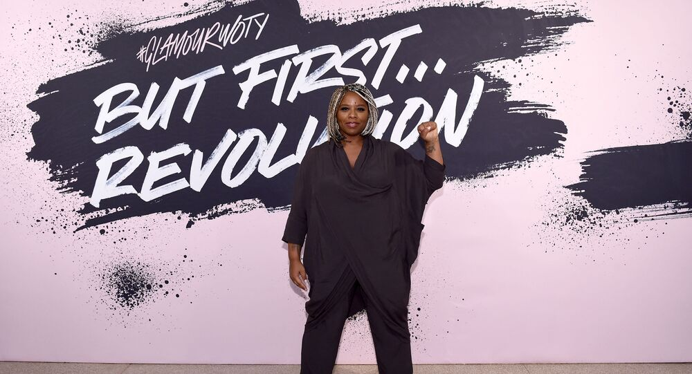 Black Lives Matter cofounder Patrisse Khan-Cullors poses during Glamour Celebrates 2017 Women Of The Year Live Summit at Brooklyn Museum.