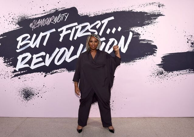 Black Lives Matter cofounder Patrisse Khan-Cullors poses during Glamour Celebrates 2017 Women Of The Year Live Summit at Brooklyn Museum