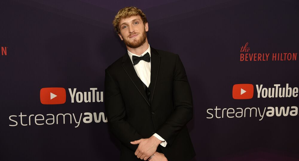 YouTube personality Logan Paul poses at the 2019 Streamy Awards at the Beverly Hilton, Friday, Dec. 13, 2019, in Beverly Hills, Calif