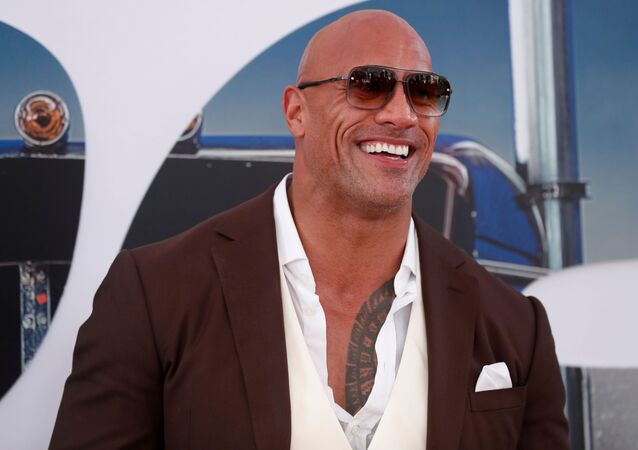 Cast member and producer Dwayne Johnson poses at the premiere for Fast & Furious Presents: Hobbs & Shaw in Los Angeles, California, U.S., July 13, 2019.