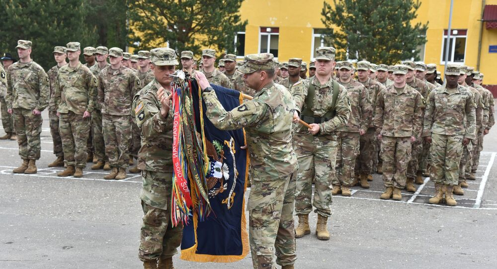 US servicemen in Ukraine during training of Ukrainian forces in Lviv region, Western Ukraine. File photo.