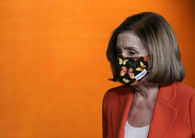 House Speaker Nancy Pelosi of Calif., walks to a lectern to answer a reporter's question during a news conference before participating in the House Democratic Issues Conference on Capitol Hill in Washington, Tuesday, March 2, 2021