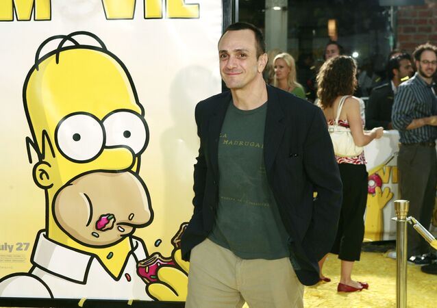 Hank Azaria arrives at the premiere of The Simpsons Movie in Los Angeles on Tuesday, July 24, 2007