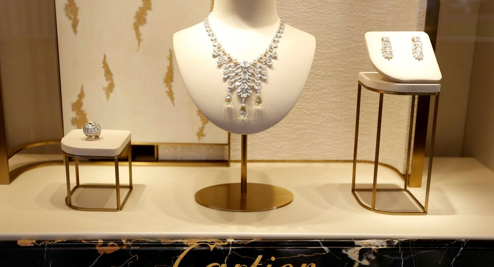 High-end jewellery is displayed at a Cartier store on Place Vendome in Paris, France, July 2, 2019.