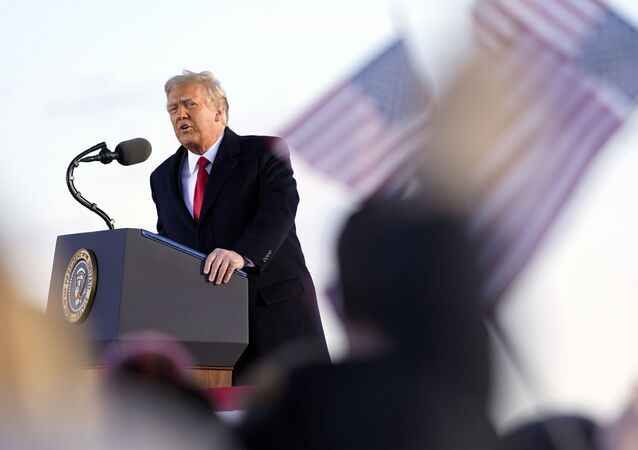 President Donald Trump speaks before boarding Air Force One at Andrews Air Force Base, Md., Wednesday, Jan. 20, 2021.