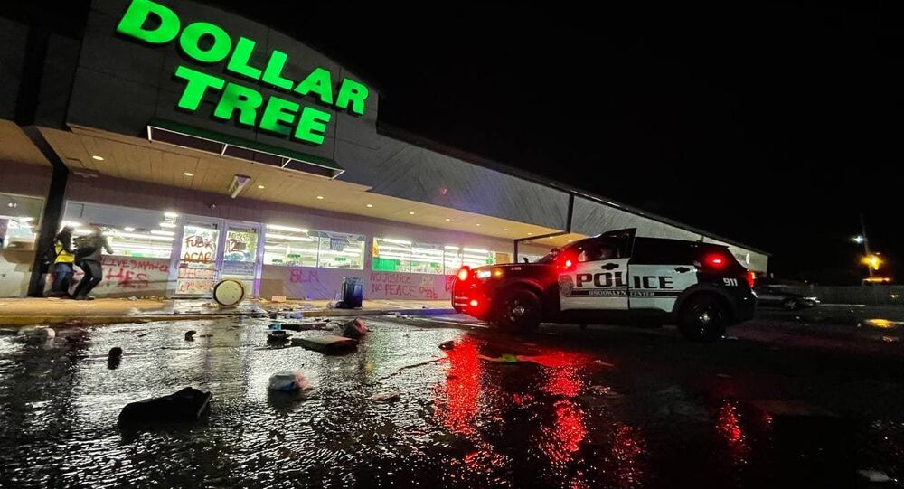Stores in Brooklyn Center, Minnesota, were vandalized and looted amid protests against the police shooting of 20-year-old local Black resident Daunte Wright