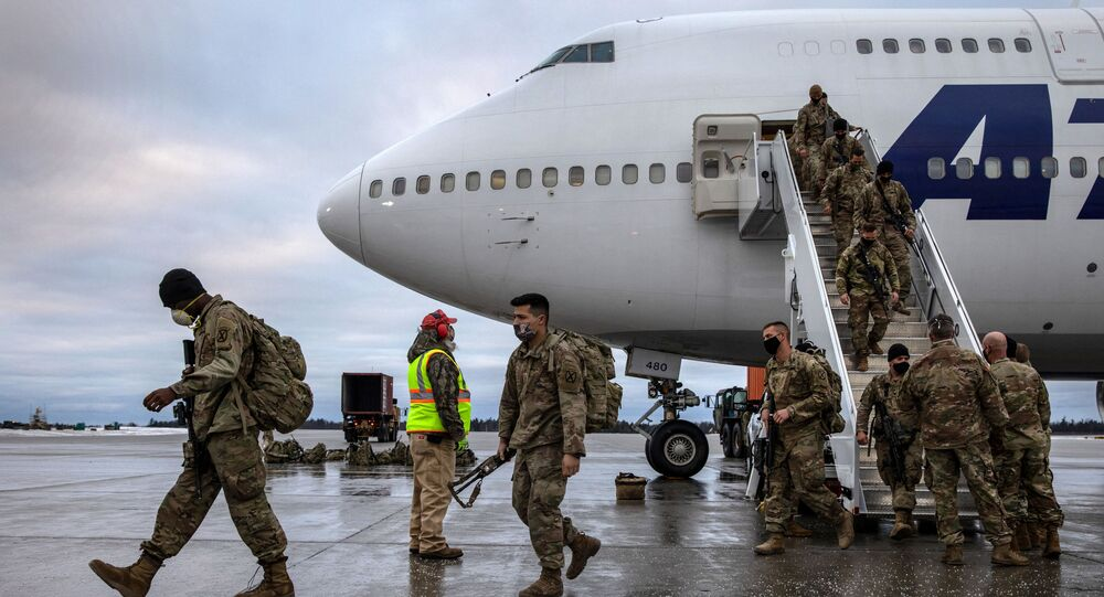 U.S. Army soldiers return home from a 9-month deployment to Afghanistan on December 10, 2020 at Fort Drum, New York.