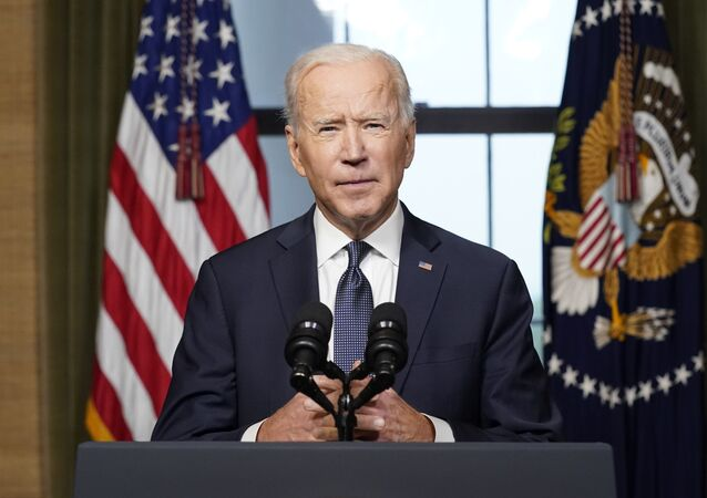 President Joe Biden speaks from the Treaty Room in the White House on Wednesday, April 14, 2021, about the withdrawal of the remainder of U.S. troops from Afghanistan.