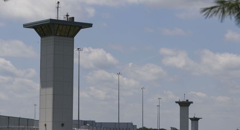 In this July 17, 2020 file photo the federal prison complex in Terre Haute, Ind., is shown.