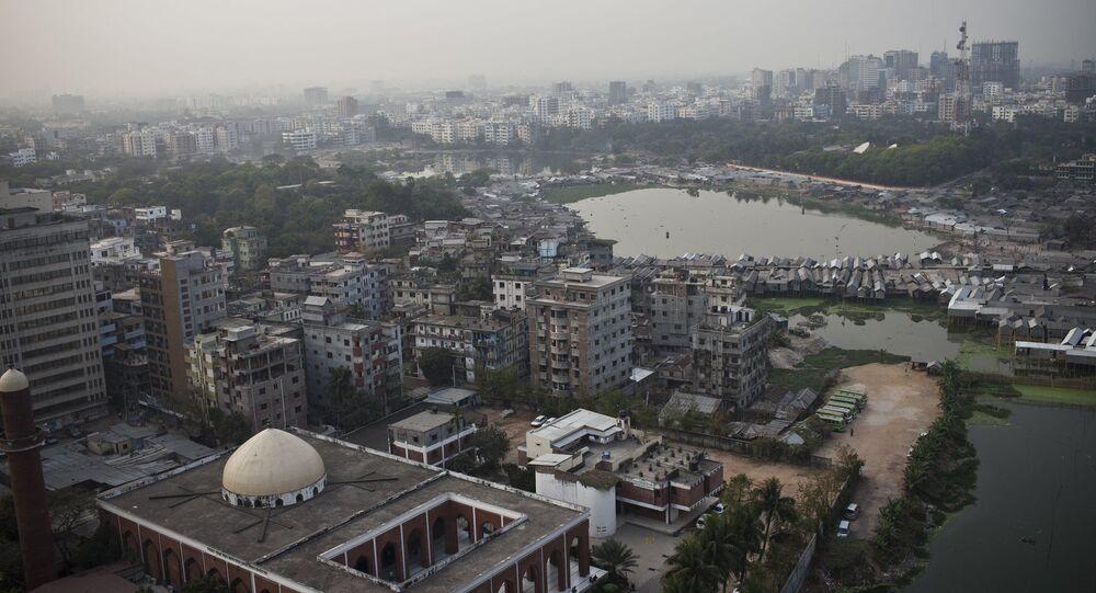 A view over Dhaka the capital of Bangladesh