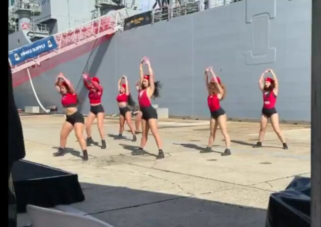 The Royal Australian Navy has commissioned HMAS Supply in Sydney ,  and organised this dance to celebrate