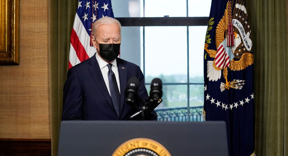 U.S. President Joe Biden arrives to deliver remarks on his plan to withdraw American troops from Afghanistan, at the White House, Washington, U.S., April 14, 2021.