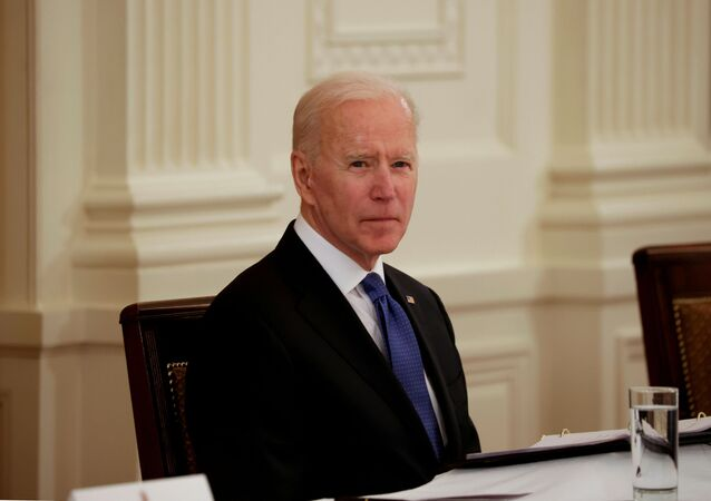 US President Joe Biden holds first Cabinet meeting at the White House in Washington, US, 1 April 2021.