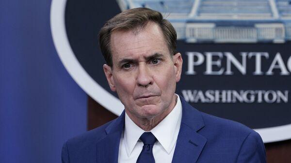 Pentagon spokesman John Kirby speaks during a briefing at the Pentagon in Washington, Friday, April 9, 2021. - Sputnik International