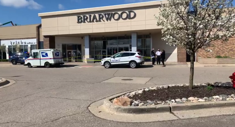 Scene at Briarwood Mall in Ann Arbor, Michigan, on April 16, 2021