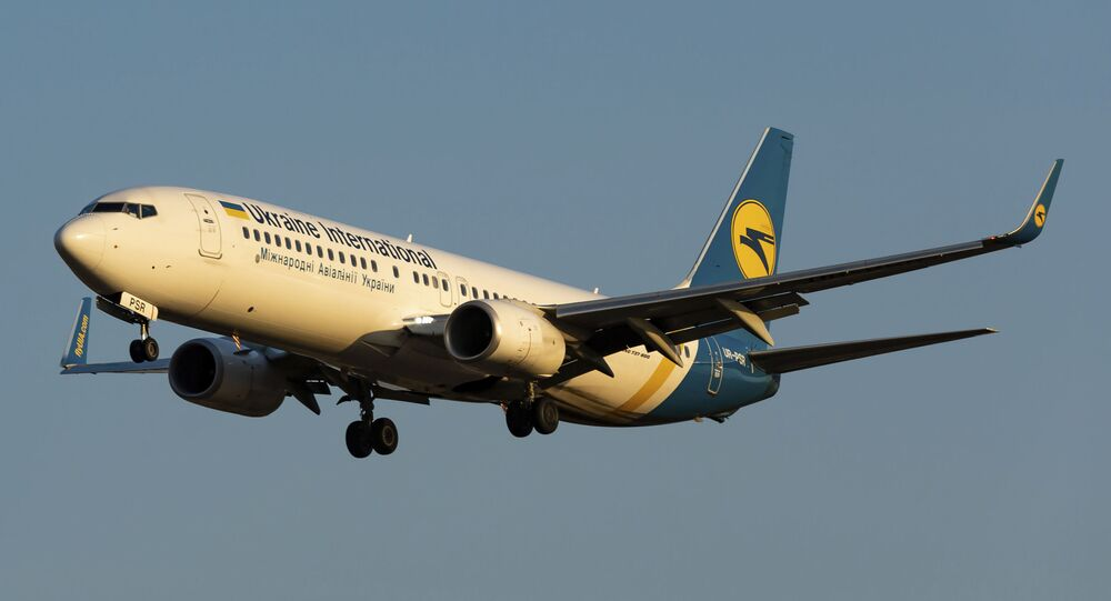 In this file photo taken on Friday, Sept. 13, 2019, showing the actual Ukrainian Boeing 737-800 UR-PSR plane that crashed Wednesday Jan. 8, 2020, on the outskirts of Tehran, Iran, seen during landing at Borispil international airport outside Kyiv, Ukraine.