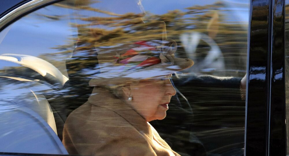 Britain's Queen Elizabeth attends a service at St Peter's church in Wolferton, near the Sandringham Estate in England, Sunday, Jan. 20, 2019.