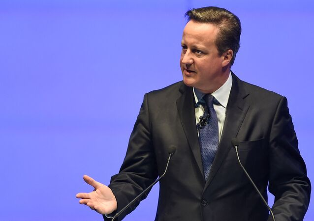 Former British prime minister David Cameron delivers the keynote address during the World Travel and Tourism Conference in Bangkok on April 26, 2017