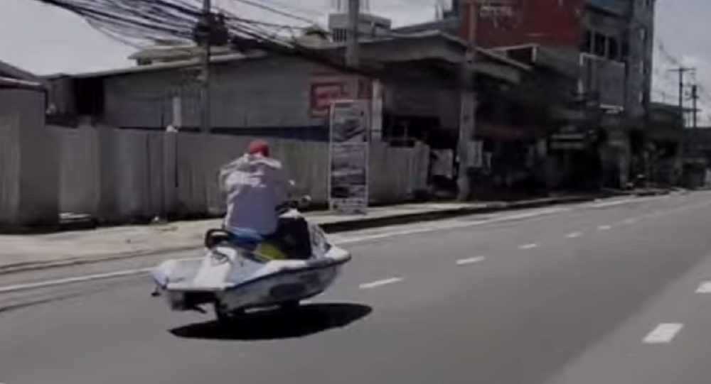 Jet Ski Spotted in Unlikely Place