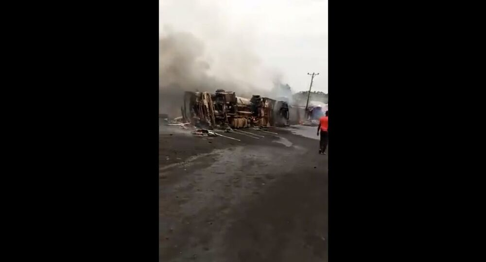 At least a dozen people reportedly died as a result of an oil tanker explosion in Nigeria's southeastern Benue State on April 18, 2021