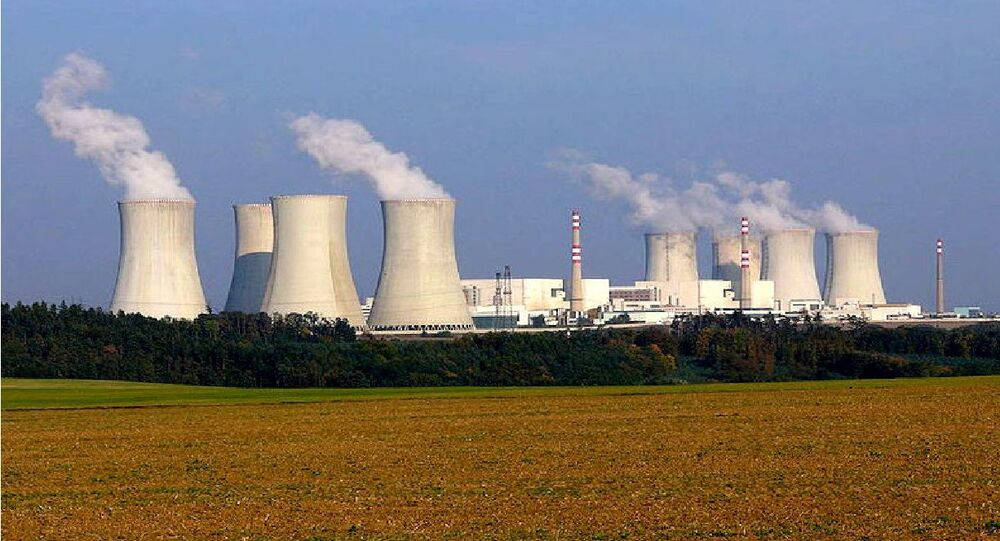 Nuclear power plant Dukovany, Czech Republic. Photo taken by Petr Adamek in October 2005.