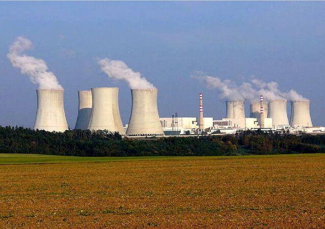 Nuclear power plant Dukovany, Czech Republic. Photo taken by Petr Adamek in October 2005.