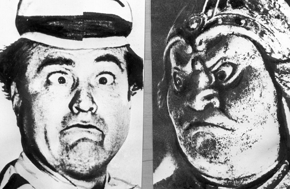 American comedian Red Skelton and Japanese 7th-century god of war