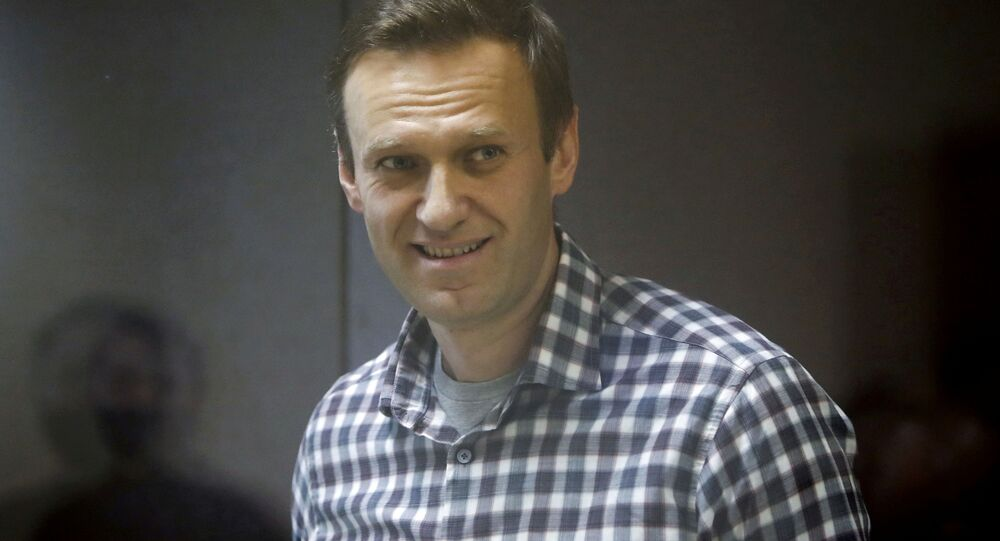 Russian opposition politician Alexei Navalny attends a court hearing in Moscow, Russia February 20, 2021