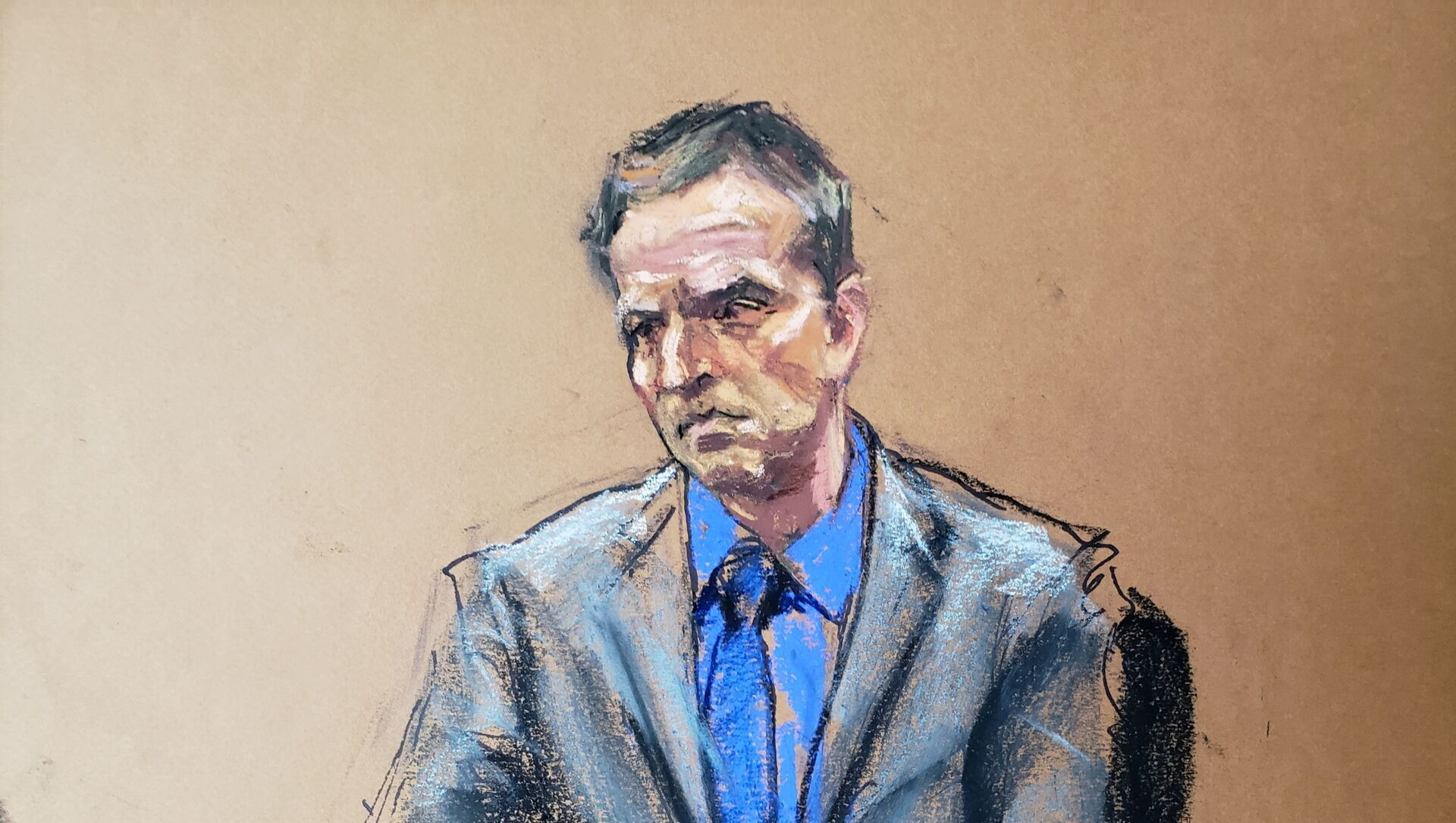 Former Minneapolis police officer Derek Chauvin listens as defence attorney Eric Nelson makes closing arguments during the trial of Chauvin for second-degree murder, third-degree murder and second-degree manslaughter in the death of George Floyd in Minneapolis, Minnesota, U.S. April 19, 2021 in this courtroom sketch.  - Sputnik International, 1920, 21.04.2021