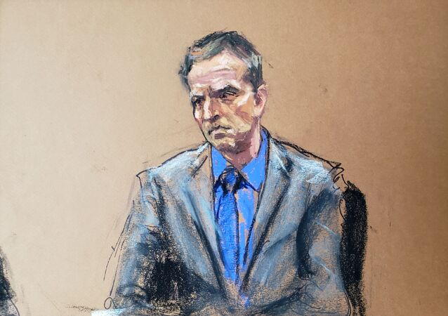 Former Minneapolis police officer Derek Chauvin listens as defence attorney Eric Nelson makes closing arguments during the trial of Chauvin for second-degree murder, third-degree murder and second-degree manslaughter in the death of George Floyd in Minneapolis, Minnesota, U.S. April 19, 2021 in this courtroom sketch.