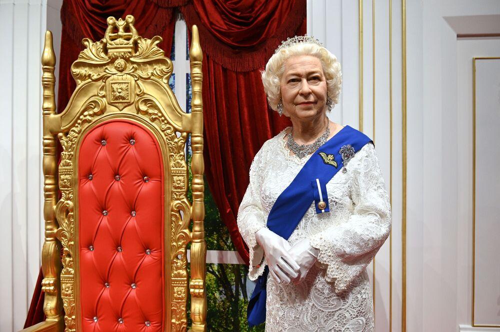 A waxwork of the Queen in Sochi, Russia.