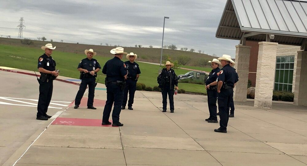Aledo ISD Police Briefing this morning in the age of Social Distancing