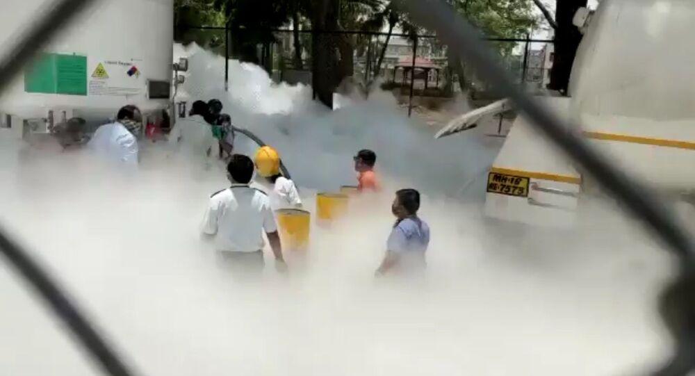 Oxygen Tank leakage reported in Zakir Hussain Hospital in Nashik