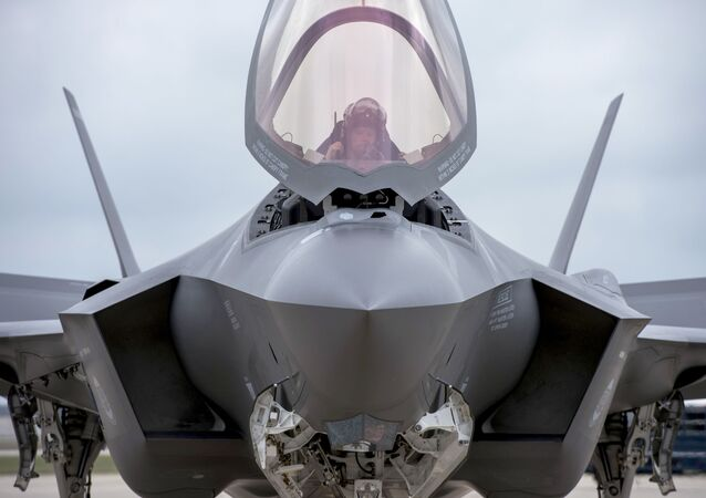 Maj. Will Andreotta, F-35 Lightning II Heritage Flight Team pilot from Luke Air Force Base, Az., prepares to exit the cockpit at Joint Base Andrews, Md., Sept. 20, 2016. The aircraft is here to perform a fly-over during the U.S. Air Force Tattoo at Joint Base Anacostia-Bolling, Washington, D.C., Sept. 22, 2016.