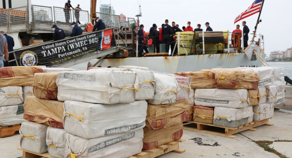 Coast Guard Cutter Tampa's crew offloaded approximately 5,500 pounds of cocaine, worth an estimated $94.6 million, in Miami, Tuesday, after interdicting a low profile vessel off the coast of Punta Gallinas, Colombia.