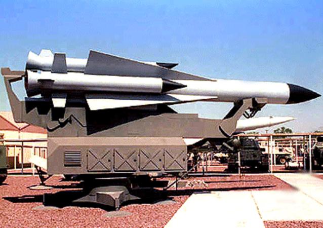 Soviet S-200 missile. File photo.