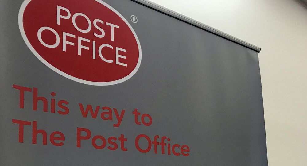 UK Post Office sign