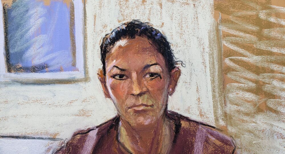 Ghislaine Maxwell appears via video link during her arraignment hearing where she was denied bail for her role aiding Jeffrey Epstein to recruit and eventually abuse of minor girls, in Manhattan Federal Court, in the Manhattan borough of New York City, New York, US, 14 July 2020 in this courtroom sketch.