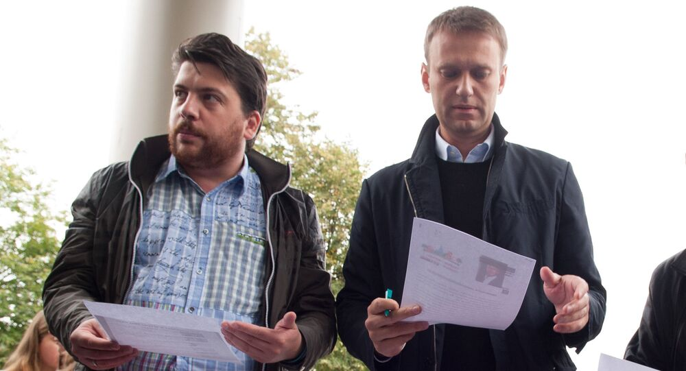 Russian opposition figure Alexey Navalny and his Chief of Staff Leonid Volkov