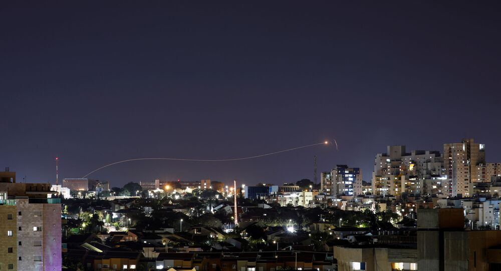 ron Dome anti-missile system fires an interceptor missile as a rocket is launched from Gaza towards Israel, as seen from the city of Ashkelon, Israel April 24, 2021.