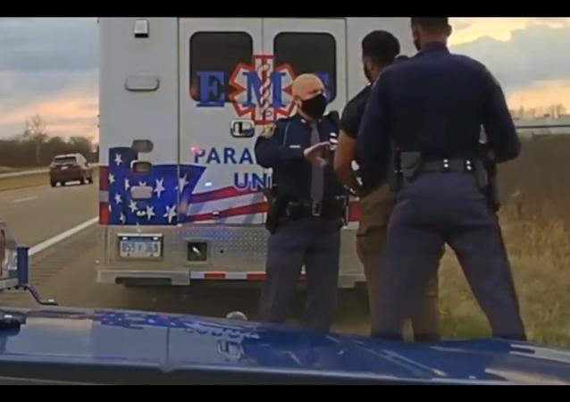 Police dashcam video depicting the arrest of Michigan Democrat Lawmaker Jewell Jones