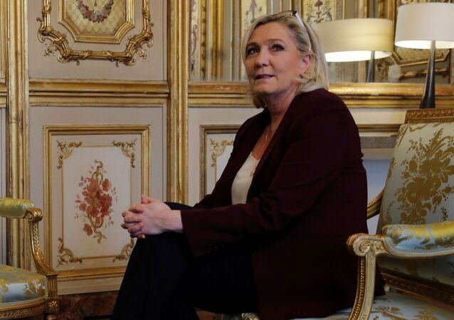 Marine Le Pen at the Elysee Palace in Paris, France, February 6, 2019