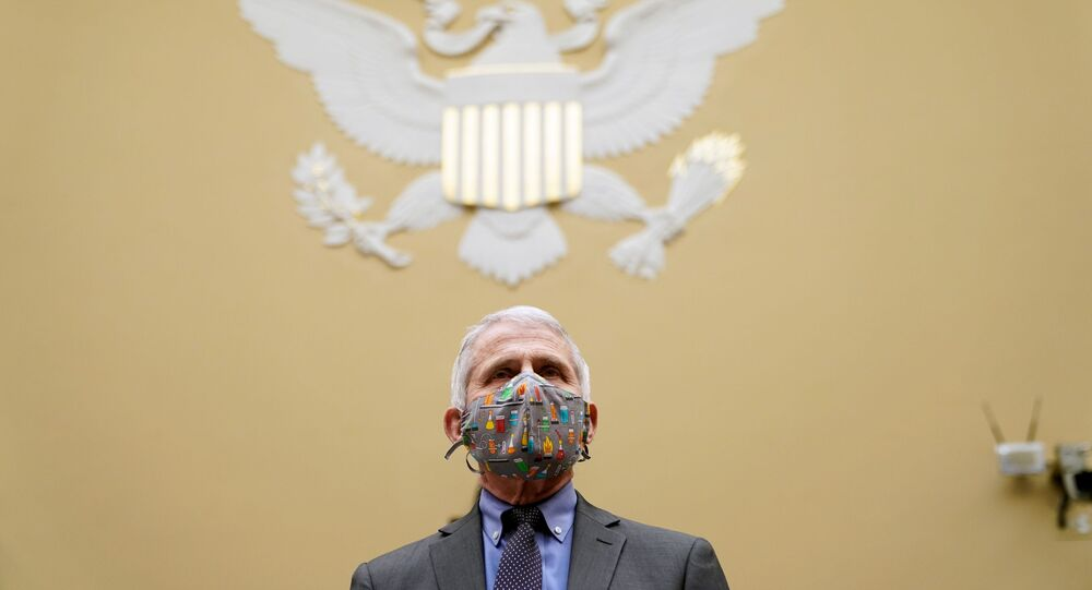 Dr. Anthony Fauci arrives to testify before the House Oversight Select Subcommittee on the Coronavirus Crisis on the Capitol Hill in Washington, U.S., April 15, 2021.