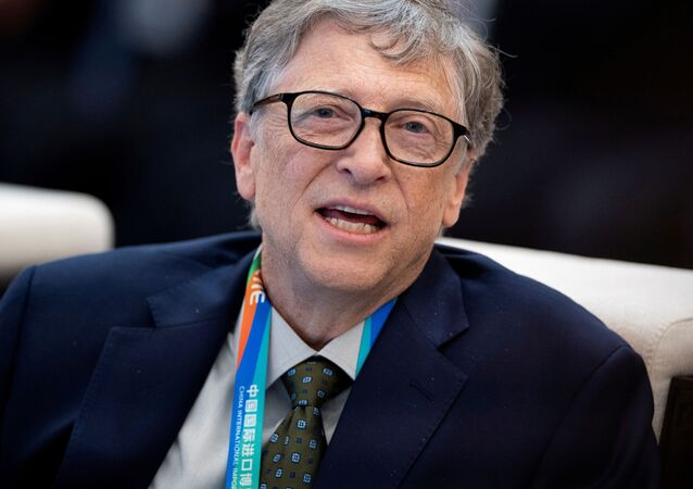 Microsoft co-founder Bill Gates attends a forum of the first China International Import Expo (CIIE) in Shanghai on November 5, 2018