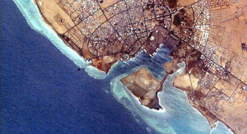NASA photo of Yanbu' al Bahr.