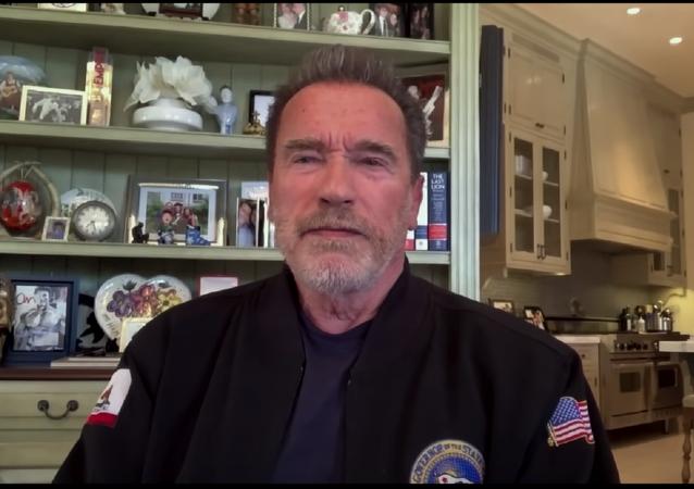 Arnold Schwarzenegger on Jimmy Kimmel Live! on April 26, 2021